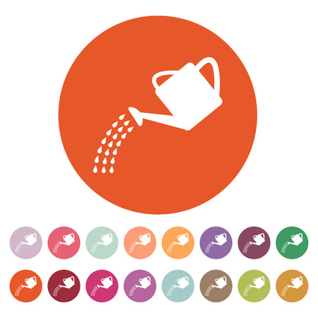 irrigation: The watering can icon. Irrigation symbol. Flat Vector illustration. Button Set Illustration