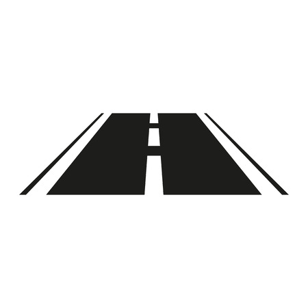 highway sign: The road icon. Highway symbol. Flat Vector illustration