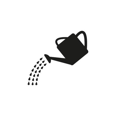 gardening tools: The watering can icon