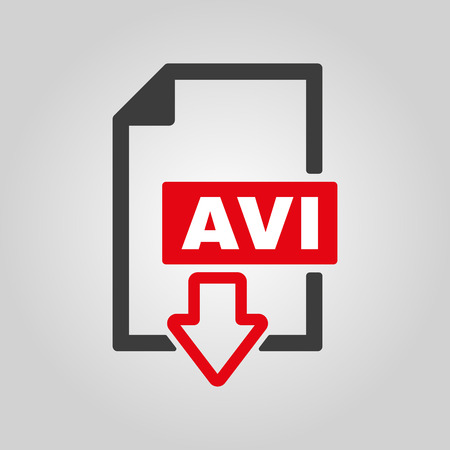 avi: The AVI icon Illustration