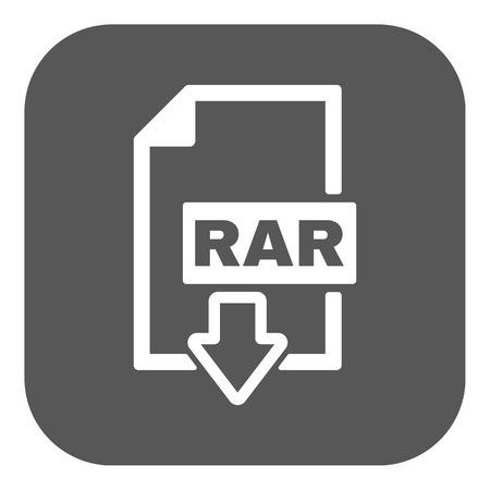rar: The RAR file icon Illustration