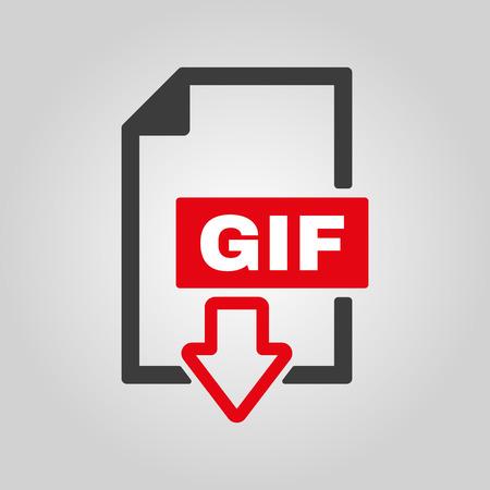 The GIF icon Illustration
