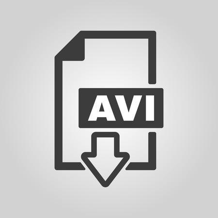 avi: The AVI icon Illustration