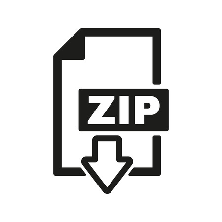 compressed: The ZIP file icon. Archive, compressed symbol. Flat Vector illustration Illustration