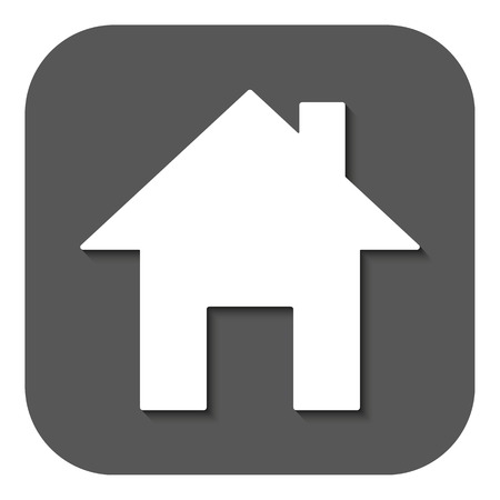 establishment states: The home icon. House symbol. Flat Vector illustration. Button