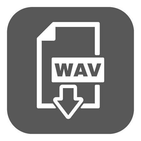 wav: The WAV icon. File audio format symbol. Flat Vector illustration. Button Illustration