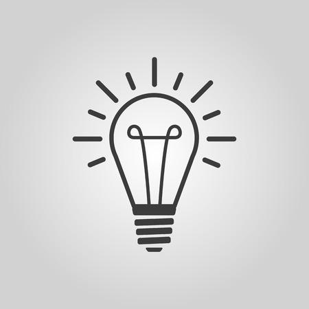 The lightbulb icon. Illumination symbol. Flat Vector illustration Illustration