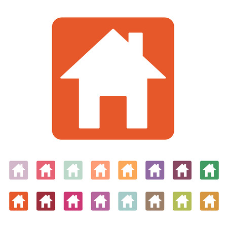 establishment states: The home icon. House symbol. Flat Vector illustration