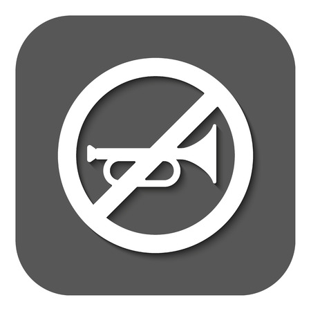 aloud: The keep quiet icon. No sound symbol. Flat Vector illustration. Button