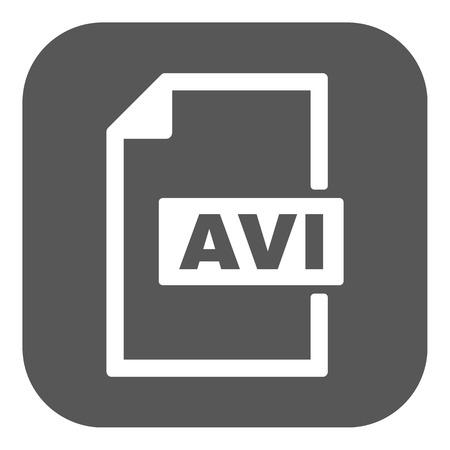 avi: The AVI icon. Video file format symbol. Flat Vector illustration. Button Illustration