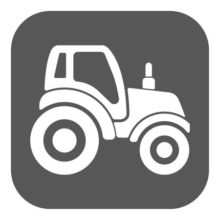 agrimotor: The tractor icon. Agrimotor symbol. Flat Vector illustration. Button Set