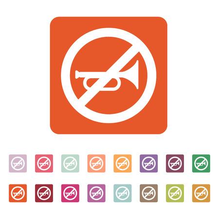 The keep quiet icon. No sound symbol. Flat Vector illustration. Button Set Illustration