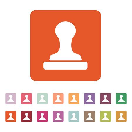 stamper: The stamp icon. Cliche symbol. Flat Vector illustration. Button Set Illustration