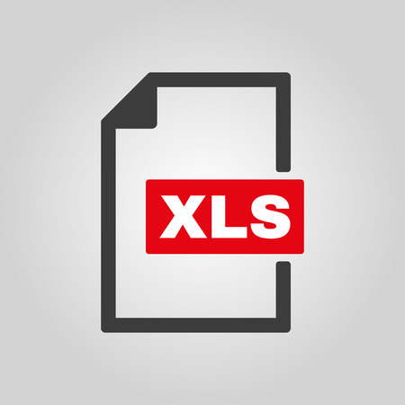 xls: The XLS icon. File format symbol. Flat Vector illustration Illustration