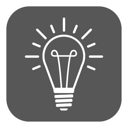 illumination: The lightbulb icon. Illumination symbol. Flat Vector illustration. Button Illustration