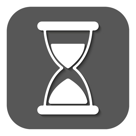 chronometer: The hourglass icon. Chronometer and timer, clock symbol. Flat Vector illustration. Button