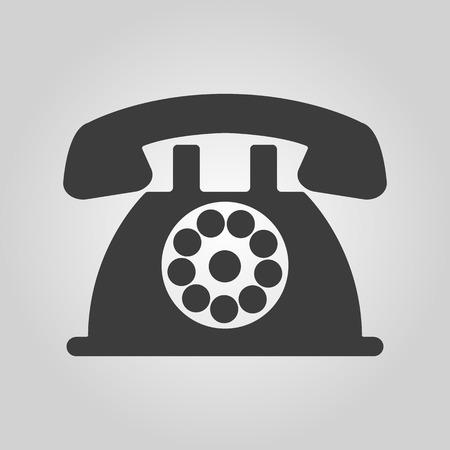 helpdesk: The phone icon. Telephone and support, hotline, helpdesk symbol. Flat Vector illustration Illustration