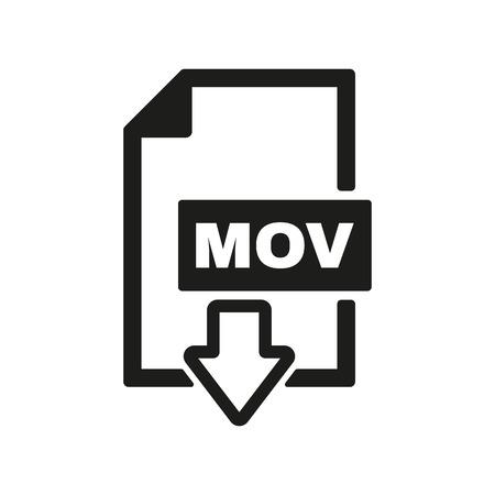 mov: The MOV icon. Video file format symbol. Flat Vector illustration Illustration