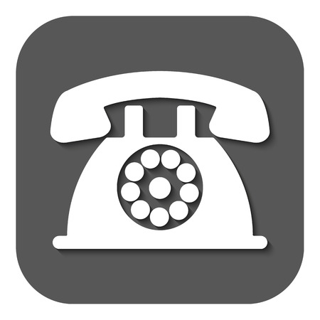 helpdesk: The phone icon. Telephone and support, hotline, helpdesk symbol. Flat Vector illustration. Button