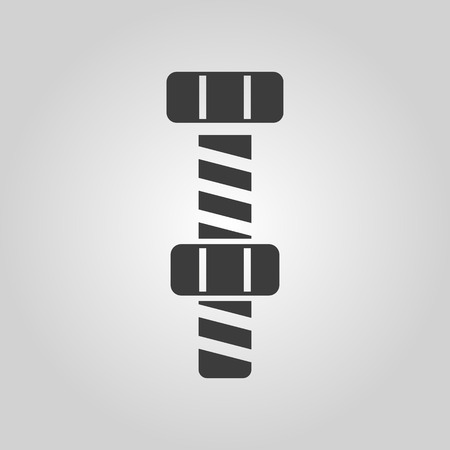 adjusting screw: The bolt with nut stranded icon. Screw symbol. Flat Vector illustration