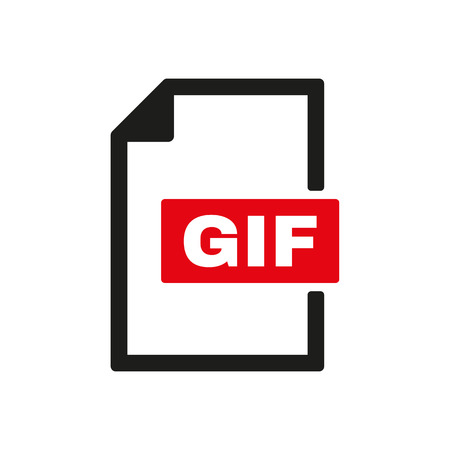 gif: The GIF icon. File format symbol. Flat Vector illustration
