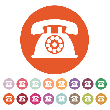 helpdesk: The phone icon. Telephone and support, hotline, helpdesk symbol. Flat Vector illustration. Button Set
