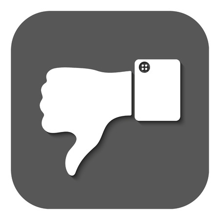 thumb down: The thumb down icon. Against and no symbol. Flat Vector illustration. Button