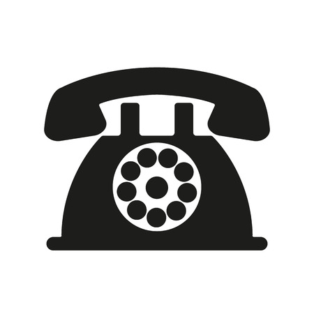The phone icon. Telephone and support, hotline, helpdesk symbol. Flat Vector illustration Vettoriali