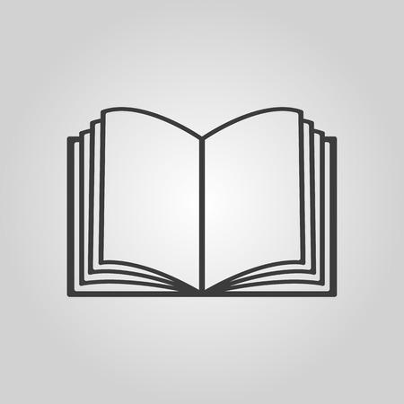 instru��o: O �cone do livro aberto. Manual e tutorial, s�mbolo de instru��es. Vector a ilustra��o plana