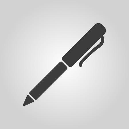 ballpoint: The pen and ballpoint icon. Writing symbol. Flat Vector illustration Illustration