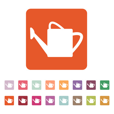 irrigation: The watering can icon. irrigation symbol. Flat Vector illustration. Button Set