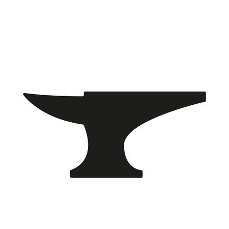 L'icône de l'enclume. Smith et forge, symbole forgeron. Flat Vector illustration