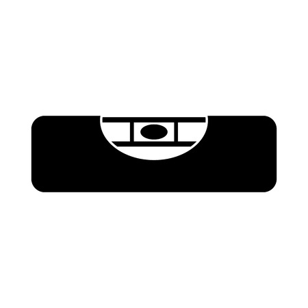 acute angle: The building level icon. Bubble Level symbol. Flat Vector illustration