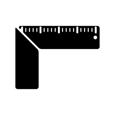 millimetre: The setsquare icon. Building square symbol. Flat Vector illustration