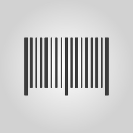 bar code scanner: The barcode icon. Identification and ID symbol. Flat Vector illustration. Button Set Illustration