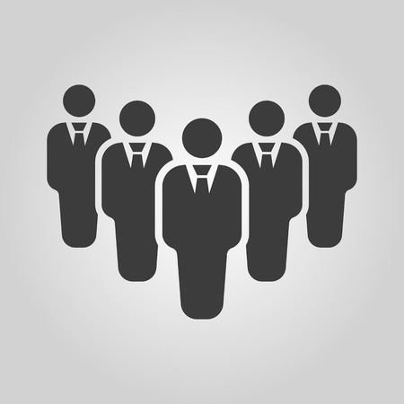 delegate: The teamwork icon. Leader and chief symbol. Flat Vector illustration. Button Set