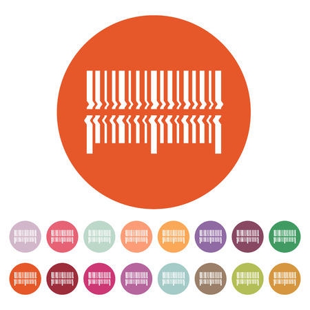 barcode scan: Scan the bar code icon. Barcode scanning symbol. Flat Vector illustration. Button Set