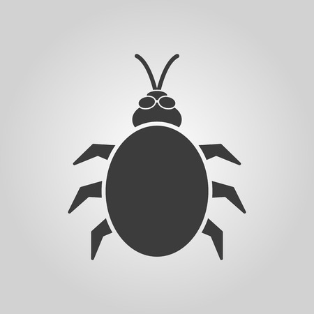 acarid: The beetle and bug icon. Acarid, insect, virus symbol. Flat Vector illustration Illustration
