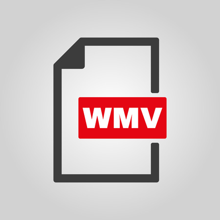 wmv: The WMV icon. Video file format symbol. Flat Vector illustration Illustration