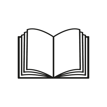 The open book icon. Manual and tutorial, instruction symbol. Flat Vector illustration Vettoriali