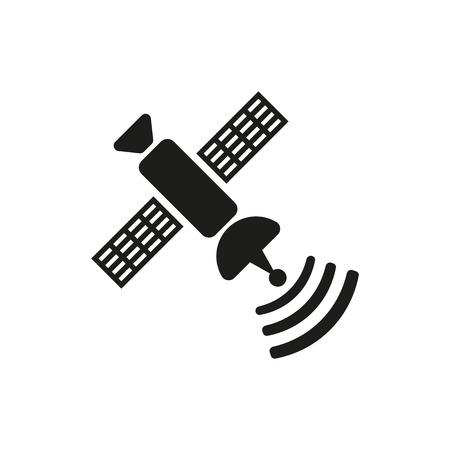 transponder: The satellite icon. TV and broadcasting, communication symbol. Flat Vector illustration Illustration