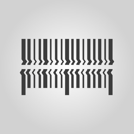 barcode scan: Scan the bar code icon. Barcode scanning symbol. Flat Vector illustration Illustration