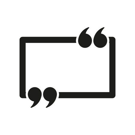 The Quotation Mark Speech Bubble icon. Quotes, citation, opinion symbol. Flat Vector illustration 版權商用圖片 - 42317534