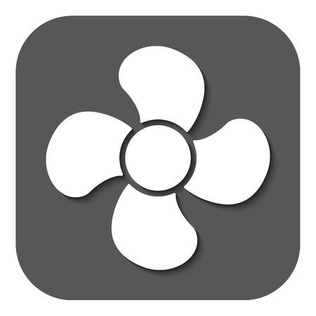 ventilator: The fan icon. fan, ventilator, blower, propeller symbol. Flat Vector illustration. Button