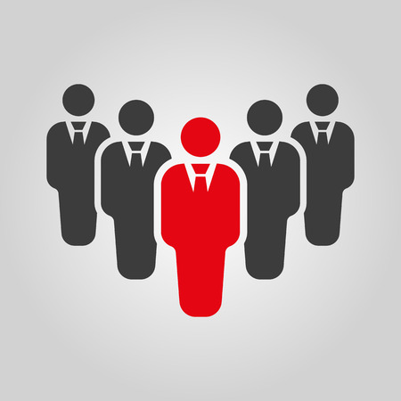 manager office: The teamwork icon. Leader and chief symbol. Flat Vector illustration. Button Set