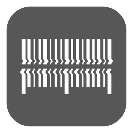barcode scanning: Scan the bar code icon. Barcode scanning symbol. Flat Vector illustration. Button Illustration