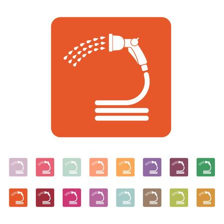 irrigation: The spray gun icon. Irrigation and watering symbol. Flat Vector illustration. Button Set