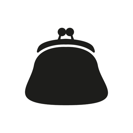 pouch: The purse icon. Wallet, pouch and money symbol. Flat Vector illustration