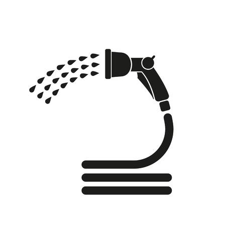 スプレーガンのアイコン。灌漑のシンボル。フラットのベクトル図  イラスト・ベクター素材