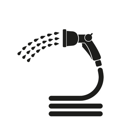 The spray gun icon. Irrigation and watering symbol. Flat Vector illustration